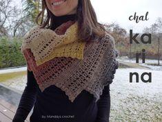 Ravelry: Dragon´s tail shawl Karina pattern by Mondays crochet Shawl Cardigan, Crochet Shawl, Pattern, Mondays, Ravelry, Cardigans, Shawls, Reyes, Indiana