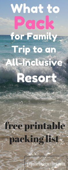 Family vacation to an all-inclusive resort, what to pack for a family trip to an all-inclusive resort on the beach. Free Printable packing list for family travel. Travel tips and mom hacks for family vacation. What to pack for a family vacation to Mexico. Mexico Resorts, Mexico Vacation, Mexico Travel, Mexico Trips, Packing List For Vacation, Travel Packing, Travel Tips, Packing Tips, Vacation Ideas