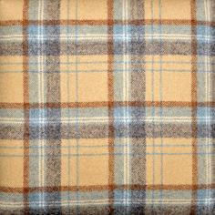 Choose your Tartan or Tweed fabric for your Handmade Footstool. We have a wide range of British Wool including Florence Anne, Balmoral and Ross Tweed. Summer Cabins, Tweed Fabric, Tartan Plaid, Blue Brown, Florence, Pure Products, Cream, Living Room, Crafts