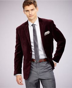 Alfani RED Slim-Fit Velvet Sport Coat - Blazers & Sport Coats - Men - Macy's