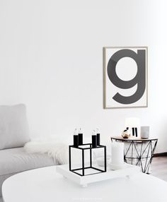Something so bold, graphic and simple. What's your initial? Your kids? What a great bedroom project!