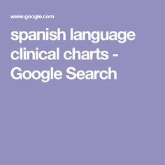 spanish language clinical charts - Google Search