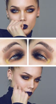 Maquillaje de noche. Maquillaje especial. copper strip