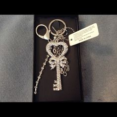 Adorable Rhinestone Keychain NWT This Is A Large Multi Chain Key Rhinestone Keychain So Nice And New , Has A Lobster Claw Clasp Can Use As A Keychain And Clip Inside Or Outside Your New Bag . This Would Also,Be Beautiful Jewelry For Your Purse ! Thanks Unknown Other