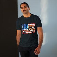 Trump 2020 T-shirt Digital Prints, Lovers, Horses, Fabric, Sleeves, Cotton, Mens Tops, T Shirt
