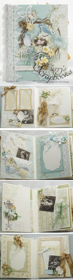 """Here is a mini album I created as a guest designer for Pion Design using their new """"The Songbird's Secret"""" paper collection. Products..."""