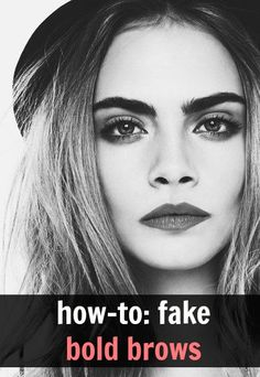 how to fake bold brows