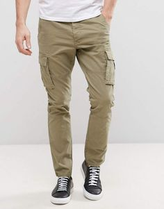 Casual-Pants Hombre Essentials Straight-fit Cargo Pant