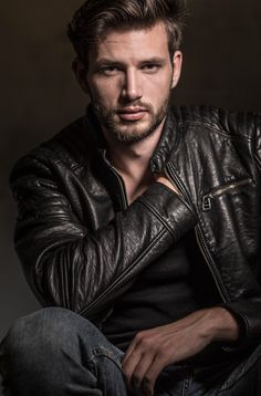 Posts made by you Leather Jeans Men, Leather Jacket Outfits, Leather Jackets, Men's Leather, Hairy Men, Bearded Men, Man 2 Man, Beautiful Men Faces, Hunks Men