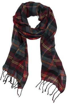 BROOKS BROTHERS  Multicolor Wool Multi Tartan Scarf