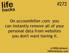 On accountkiller.com, you can remove all of your personal data from websites you don't want having it. Life Hack life hack #lifehack #accountkiller