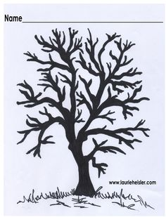 Blank Tree-Use for a Fall or Spring Tree art project.    Use pink paint for cherry blossoms and yellow, brown, orange & red for a fall tree.
