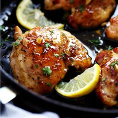 Glazed Lemon Honey Garlic Chicken is tender and juicy chicken cooked in the skillet topped the most amazing lemon honey garlic glaze!  You are going to love this simple but full of flavor 30 minute meal!  If you haven't noticed yet, 30 minute meals are becoming my BFF lately.  And my skillet meals are becoming quite …
