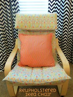 Charmant Reupholstered Ikea Chair