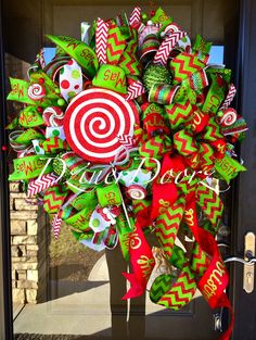 30 Whimsical Peppermint Candy Christmas deco mesh by DzinerDoorz, $149.00