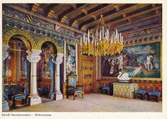 neuschwanstein castle room