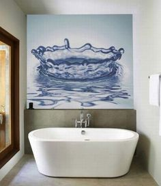 Love the water picture for the bathroom
