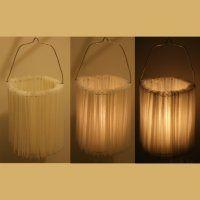 Une lanterne en papier plissé. - Marie Claire Idées