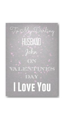 Unique Personalised Valentine's Card  by personalisedcards4u