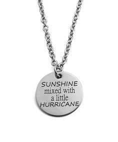 Another great find on #zulily! Stainless Steel 'Sunshine' Round Pendant Necklace #zulilyfinds