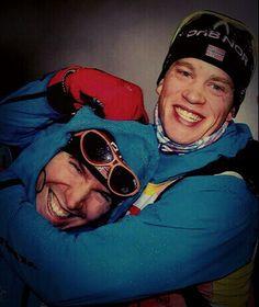 Emil Hegle Svendsen and Tarjei Boe