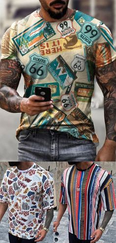 Mens Casual T Shirts, Stylish Men, Summer Collection, Mens Suits, Beautiful Things, Long Sleeve Tops, Free Shipping, Tees, Sports