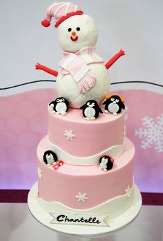 pink frosty w/penguins