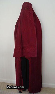 Burgundy Burqa by burqalady, via Flickr