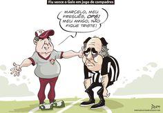 Charge do Dum (Zona do Agrião) sobre mais um confronto entre #LevirCulpi e #MarceloOliveira (13/09/2016). #Charge #Dum #CampeonatoBrasileiro #Brasileirão #Atlético #Galo #Fluminense #HojeEmDia