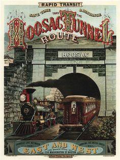 3590.Rapid transit hoosac tunnel route POSTER.Home School art decor   eBay