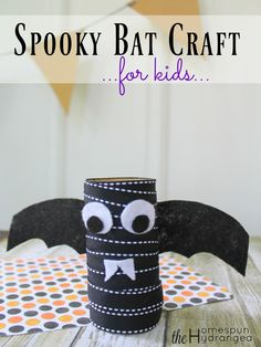 This spooky Halloween bat craft for kids is simple, spooky, and budget friendly…