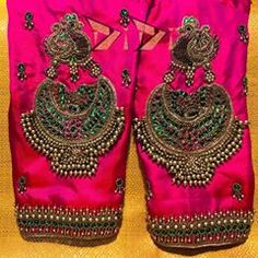 Trending Jewellery Pattern Blouses That You Need To Check Out Right Now! Wedding Saree Blouse Designs, Blouse Designs Silk, Blouse Patterns, Hand Work Blouse Design, Stylish Blouse Design, South Indian Blouse Designs, Maggam Work Designs, Sleeve Designs, Embroidery Works