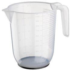 IKEA - Brocca graduata BEHÖVA - trasparente, grigio, Altezza: 14 cm, Capacità: 1 l Measuring Scale, Liquid Measuring Cup, Measuring Cups, Baking Utensils, Ikea Family, Polypropylene Plastic, Synthetic Rubber, Tomato Sauce, Gray