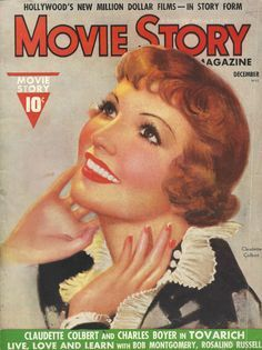 claudette colbert movie magazine covers | about Vintage Movie Magazine Covers on Pinterest | Movie magazine ...