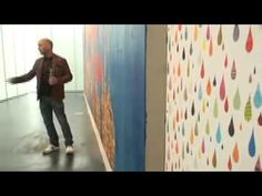 REX RAY DISCOLARIA - YouTube. discusses process, use of collage on canvas