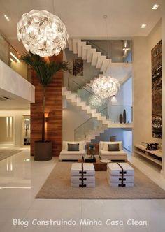 Casa Maravilhosa! Fachada e Interior Super moderno!!! Veja no blog!! http://construindominhacasaclean.blogspot.com.br/2014/03/casa-maravilhosa-fachada-e-interior.html