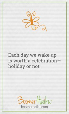 There are whacky holidays for practically every day of the year. But it really all comes down to this, doesn't it?