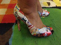 DIY Comic book shoes
