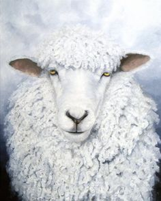 Items similar to Ewe Don't Own Me, Leicester Longwool sheep giclée print from original painting on Etsy Sheep Paintings, Animal Paintings, Farm Animals, Cute Animals, Leicester, Sheep Face, Sheep Illustration, Sheep And Lamb, Tier Fotos