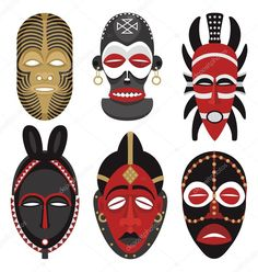 Illustration about This is the second illustration of vector African masks in my portfolio. No transparency and gradients used. Illustration of ethnic, culture, human - 10853855