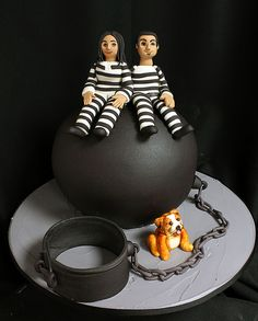 Ball and Chain Grooms Cake   by Oakleaf Cakes