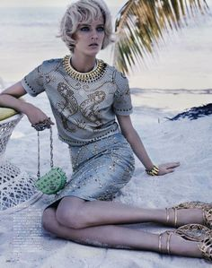 Daria Strokous by Josh Olins for Vogue Japan