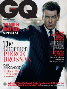 Pierce Brosnan - James Bond in different covers, pretty cool  New edition GQ cover UK edition