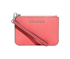 Women's Wristlet Handbags - MICHAEL Michael Kors Womens Colorblock Small Wristlet CoralWatermelonSilver >>> Learn more by visiting the image link.