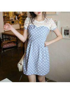 Polka Dot Panel Dress