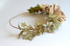 Woodland circlet floral crown wedding head by gardensofwhimsy