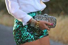 Glittery skirt
