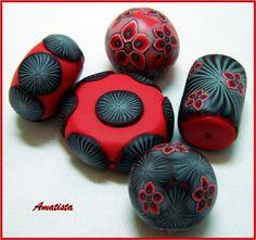 Piezas rojo-negro | by el rincón de amatista