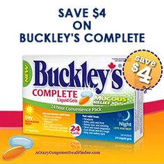 Save $4 on Buckley's Complete