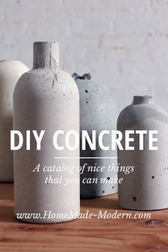 Hege in France: Concrete vase DIY